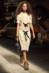Coach 1941 Ready to Wear Spring/Summer 2017 at NYFW ~ vintage style fashion ~ models on the catwalk ~ runway outfits ~ yellow floral printed dresses ~ designer outfits at New York Fashion Week