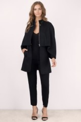 TOBI Elva black wool cape coat. Womens stylish capes | chic autumn coats | street style fashion | on trend outerwear