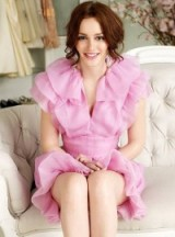 Blair Waldorf in pink ruffles ~ gossip girl fashion ~ glamour ~ feminine dresses