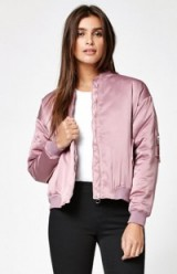 Kendall & Kylie Lilac Padded Bomber Jacket. Casual on-trend fashion | jackets trending now | weekend clothing
