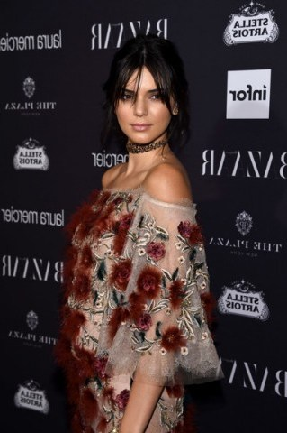 """Kendall Jenner at Carine Roitfeld's the """"Harper's Bazaar"""" Icons party during NYFW, dressed in Marchesa. - flipped"""