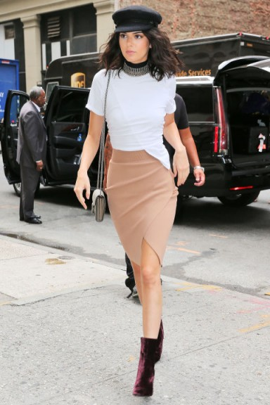 Kendall Jenner Street Style Out In New York City White
