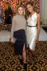 Olivia Palermo and Naomie Harris attend Maison Makarem S/S 2017 at LFW. Front row celebrities | celebrity fashion | star style outfits
