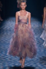 Marchesa Ready to Wear Spring/Summer 2017 at NYFW ~ models on the runway ~ designer gowns ~ ruffled dresses ~ luxe fashion ~ luxury event wear