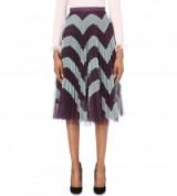 MARY KATRANTZOU Clementine tulle skirt – pleated zigzag print – pleats – designer skirts – overlay design – autumn fashion