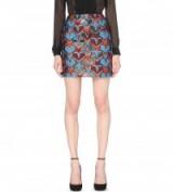 MARY KATRANTZOU Clovis star-jacquard skirt – designer mini skirts – luxe fashion – rich printed fabrics