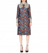 MARY KATRANTZOU Star jacquard coat – statement coats – luxury designer fashion – stars – bold prints – structured outerwear
