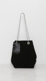 MM6 Maison Margiela Black Suede Chain Shoulder Bag – luxe designer bags – stylish handbags