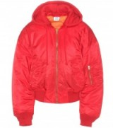 VETEMENTS Red Bomber jacket. Urban style jackets | designer streetwear | on-trend fashion | womens casual clothing