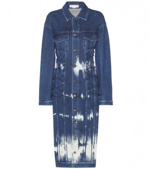 STELLA MCCARTNEY Denim dress. Designer fashion   blue denim dresses   designer clothing - flipped