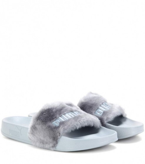 puma slip ons fluffy mytheresacom leadcat fenty slipon sandals luxury  fashion for women designer clothing shoes bags 14733314944gkn8 538dd84b151