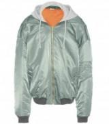 VETEMENTS Oversized bomber jacket khaki green. Urban jackets | casual designer outerwear | hooded | jersey hood | unisex fashion | streetwear