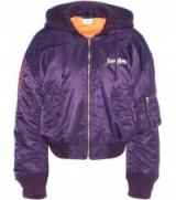 VETEMENTS Printed jacket purple. Urban style fashion | casual designer jackets | on-trend streetwear