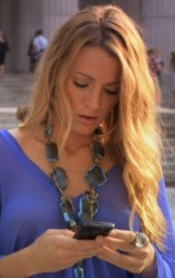Serena van der Woodsen style ~ chunky statement necklaces ~ blue stone necklace ~ gossip girl jewellery ~ accessories