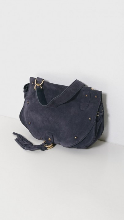 See by Chloé Large Navy Blue and Suede Shoulder Bag – stylish handbags – chic bags