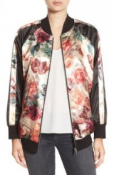 Standard Grace Reversible Bomber Jacket. Satin style jackets | casual fashion | floral prints | roses & butterflies