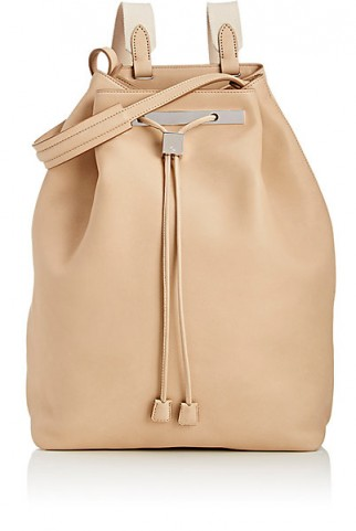THE ROW Backpack 11 in beige leather. Luxe backpacks | designer bags | luxury accessories | chic and stylish