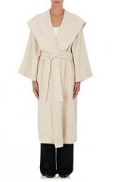 THE ROW Lanja Beige Alpaca-Blend Coat. Chic Autumn/Winter outerwear   women's belted coats   stylish fashion   luxury clothing   luxe designer wear   wrap style