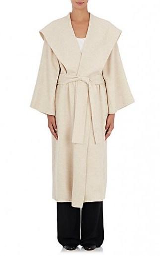 THE ROW Lanja Beige Alpaca-Blend Coat. Chic Autumn/Winter outerwear   women's belted coats   stylish fashion   luxury clothing   luxe designer wear   wrap style - flipped