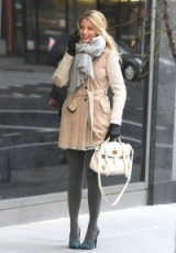 Serena van der Woodsen does warm and snugly in style ~ gossip girl street style ~ Serena's coats ~ outfits