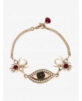 ALEXANDER MCQUEEN Swarovski Crystal & Faux Pearl Bracelet. Evil eye bracelets   designer fashion jewellery