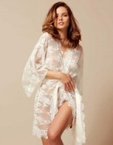 Agent Provocateur Matinee white French lace kimono
