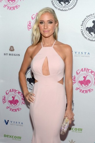 Kristin Cavallari looked lovely wearing a blush pink Jay Godfrey 'Sao Paulo' gown, available from revolve.com, when she attended the Carousel Of Hope Ball in Beverly Hills, 8 October 2016. Celebrity event dresses | star style gowns | glamorous occasion fashion