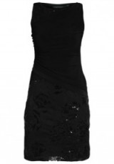 Lauren Ralph Lauren BALAZ Sleeveless Floral Sequin Dress in black shine