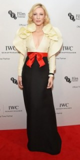 Cate Blanchett stunning in Gucci at the IWC Gala Dinner in honor of the British Film Institute, Oct 2016