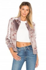LOVERS + FRIENDS X REVOLVE THE WORLDWIDE FLORAL EMBROIDERED BOMBER