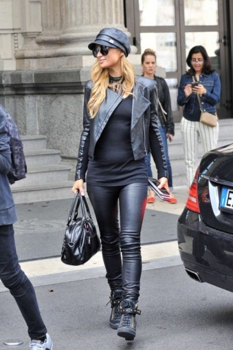 Paris Hilton street style out in Milan for fashion week September 2016