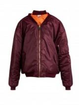 VETEMENTS Reworked oversized dark-burgundy bomber jacket | Fashion trends | Trending jackets