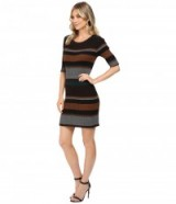 Sanctuary Veronique Stripe Rib Dress – in the style of model Alessandra Ambrosio (different colour) out in Los Angeles on 18 October, 2016. Celebrity sweater dresses   star style knitwear   models off duty fashion