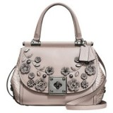 Coach Drifter Leather Top Handle Shoulder Bag, Grey Birch