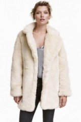 H&M Faux Fur Jacket natural white ~ winter jackets ~ stylish coats ~ glam fashion