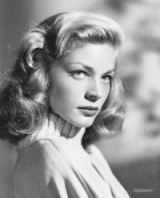 Actress Lauren Bacall's vintage waves. Celebrity hairstyles | Hollywood beauty | beautiful women | wavy blonde hair