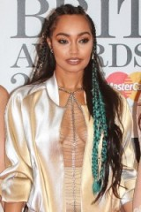 Leigh-Anne Pinnock's mini braids. Celebrity hairstyles | star style hair | Little Mix | Leigh-Anne Pinnock hair | blue braids | long braided hair