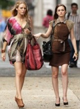Best friends with style ~ gossip girl ~ Gucci brown animal print dress ~ printed Diane von Furstenberg floaty mini dress ~ outfits