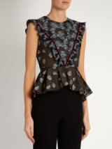 ERDEM Quinn fil coupé sleeveless top ~ peplum tops