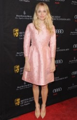 Sienna Miller looked pretty in pink Valentino at the 2013 Bafta Los Angeles Awards Season tea party.