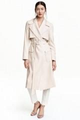 H&M light beige trench coat ~ stylish coats