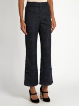ERDEM Verity cropped flared plaid trousers