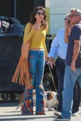 Amal Clooney's casual 70s style boho chic