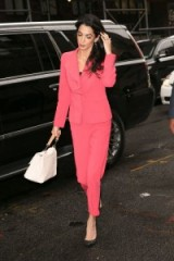 Amal Clooney pretty in pink