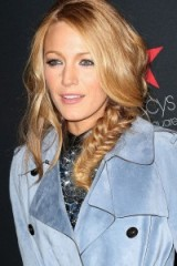 Blake Lively's messy fishtail braid