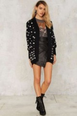 Callahan You Got the Silver Embellished Cardigan purchase from NastyGal