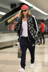 Cara Delevingne travel style at JFK