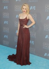 Rachel McAdams attends the 2016 Critics' Choice Awards, held in Santa Monica, wearing a sheer red strappy Elie Saab Couture gown. Celebrity gowns | star style | designer fashion | event dresses