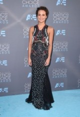 Alicia Vikander dressed in a Mary Katrantzou mix print sleeveless gown, attending the 2016 Critics' Choice Awards, held in Santa Monica. Celebrity dresses | star style gowns | event fashion
