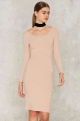 Glamorous In With the Nude Ribbed Dress – lovely style! Nasty Gal